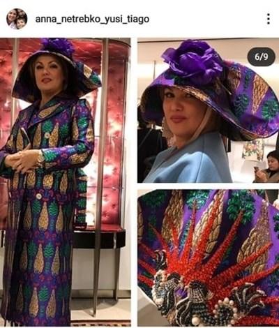 Анна Нетребко има страст към шапките. СНИМКИ: ПРОФИЛ НА ПЕВИЦАТА В ИНСТАГРАМ