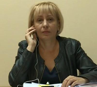 """Кметицата на община """"Подуене"""" Кадър: Нова телевизия"""