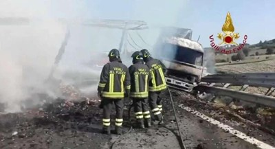 СНИМКИ Италиански пожарникари / twitter