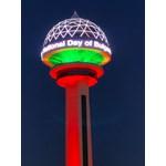 Кулата Атакуле в Анкара светна в цветовете на националния ни флаг (Видео)