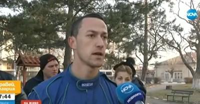 Недко Недков разказва за кражбата. СНИМКА: НОВА ТВ