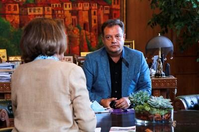 Разговорите набелязаха сфери на партньорство СНИМКА: Община Велико Търново