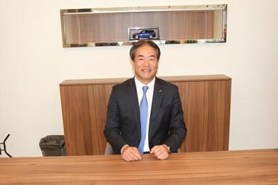 """Такаши Ямана -  главен изпълнителен директор на коорпорацията Sumitomo Corporation Europe, купила преди близо година чрез Sumitomo Motors фирмата """"Мото-Пфое"""" СНИМКА: Георги Луканов"""