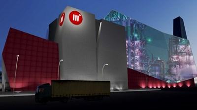 Визуализация на проекта за инсталация за оползотворяване на RDF горивото, произведено от софийския завод за преработка на отпадъци.