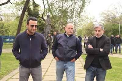Степан Хиндлиян, Тити Папазов и Павел Колев. СНИМКА: ВЕЛИСЛАВ НИКОЛОВ