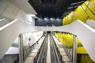 Метростанция НДК 2 е една от новите 8 станции, които бяха пуснати в края на август.