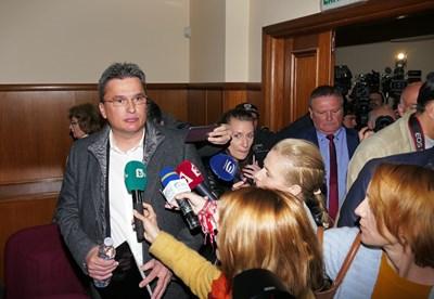 Разпитът на ключовия свидетел по КТБ Бисер Лазов ще продължи и през април. СНИМКА: Пиер Петров