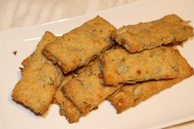 Солени крекери с лимец