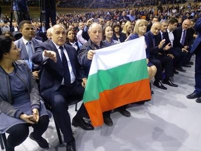 """Борисов на откриването на една от кампаниите в зала """"Колодрума"""" - сега той е начело на листата на ГЕРБ в Пловдив за 5-и пореден път."""
