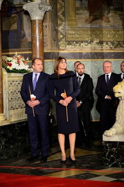 Президентът Румен Радев и съпругата му Десислава Радева Снимки и видео: Десислава Кулелиева