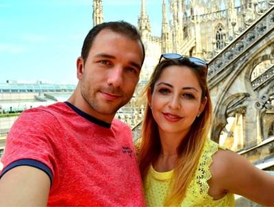 Жасмина и Стоян в Милано  СНИМКИ: ЛИЧЕН АРХИВ