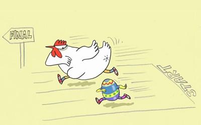 Поръчах онлайн една кокошка и едно яйце. И сега ми е много интересно кое ще дойде първо. СНИМКА: Ивайло Нинов