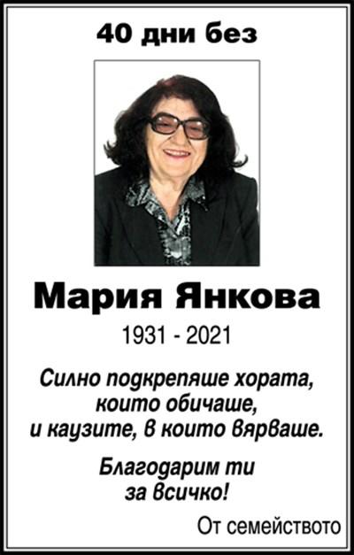 Мария Янкова