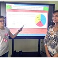 Ана-Мария с учителката си по математика г-жа Аделина Павлова.