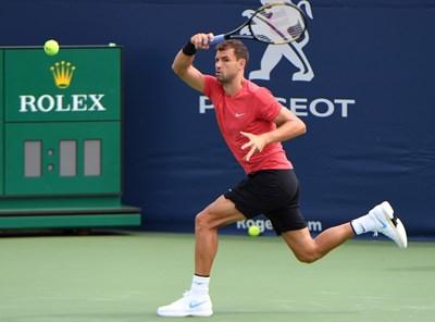 Григор Димитров тренира на комплекса в Торонто, където му предстои участие в Rogers Cup. СНИМКА: РОЙТЕРС