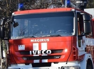Пожарникари гасиха огън в Банско. Снимка: Архив