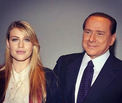 Барбара Берлускони с баща си.