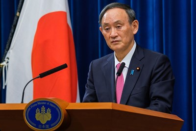 Министър-председателят на Япония Йошихиде Суга СНИМКА: РОЙТЕРС