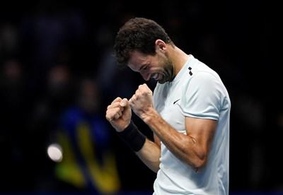 Григор Димитров ще бъде поставен под номер 2 в основната схема на тенис турнира от сериите АТР 250 в Бризбейн. Снимка РОЙТЕРС
