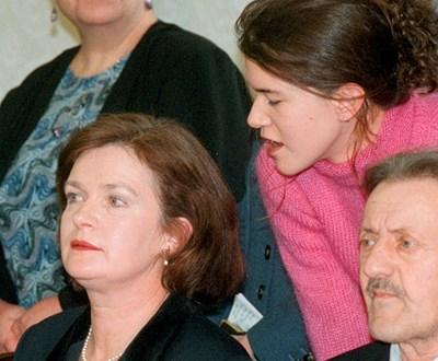 Третата му съпруга Анабел Маркова при едно от посещенията си у нас
