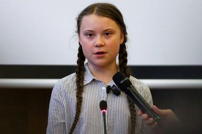 Младата шведска екоактивистка Грета Тунберг СНИМКА: РОЙТЕРС