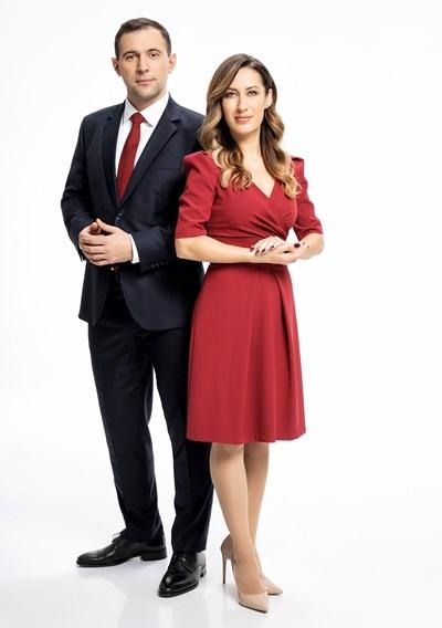Биляна Гавазова и Златимир Йочев са водещи на сутрешния блок на Би Ти Ви.