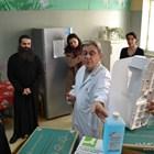 Проф. Константинов (вдясно) и митрополит Гавриил
