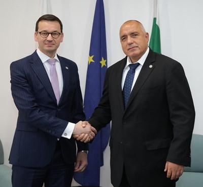 Моравецки и Борисов СНИМКИ: Министерски съвет