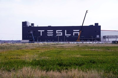 Фабрика за електрически автомобили на Tesla Inc в Шанхай, Китай. Снимка: Ройтерс