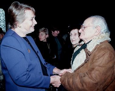 Валери Петров със съпругата на Петър Увалиев Соня Рув.