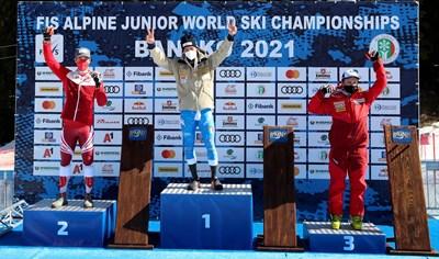 Шампионът Джовани Францони бе 14-и в гигантския слалом за мъже на световното в Кортина. Снимки: Костадин Андонов