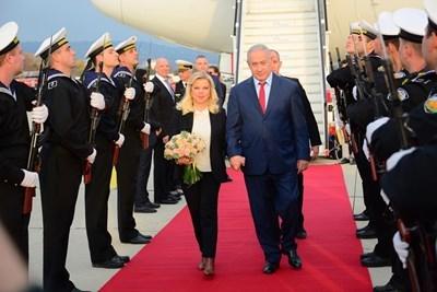 Премиерът на Израел Бенямин Нетаняху пристигна във Варна СНИМКА: Община Варна