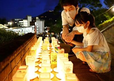 Японският град Нагасаки отбеляза 75-ата годишнина от американската атомна бомбардировка. Снимки: Ройтерс