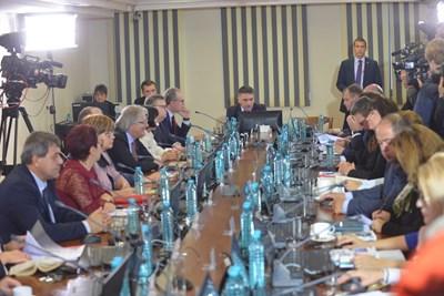 Започна заседанието на ВСС за прегласуване на кандидатурата на Иван Гешев СНИМКА: Йордан Симеонов