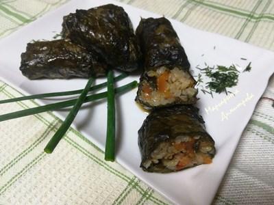 Сарми с лапад и ориз