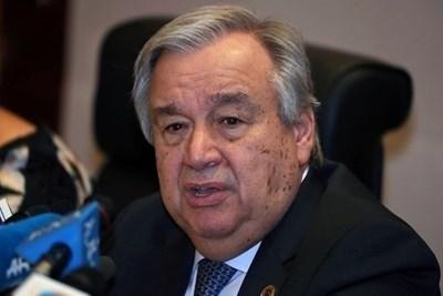 Генералният секретар на ООН Антониу Гутериш   СНИМКА: Ройтерс