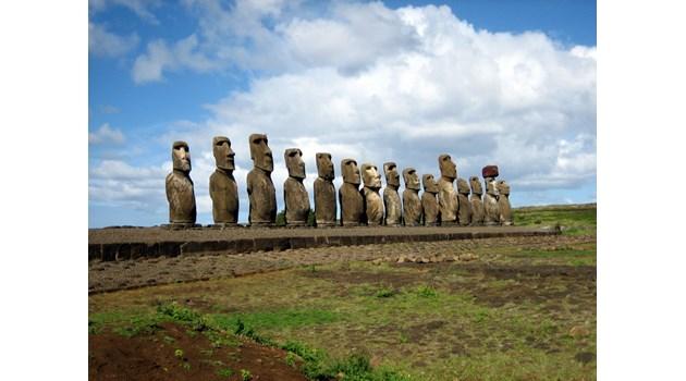 Как огромните каменни шапки са кацнали на мистериозните фигури от Великденските острови