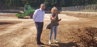 Д-р Иван Иванов провери на място хода на строителството