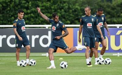 Тренировката на националния отбор на Бразилия СНИМКА: РОЙТЕРС
