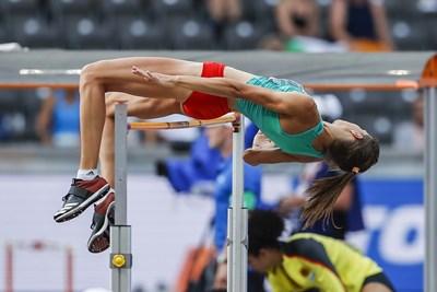 Мирела показа невероятен характер в сектора за скок на височина. Снимки ИЛИАН ГАБРОВСКИ-ЧОПЛЕКОВ