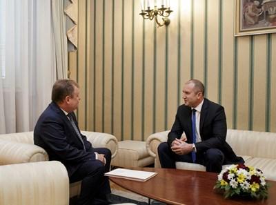 Георги Чолаков на среща с Румен Радев СНИМКИ: прессекретариатът на президентството