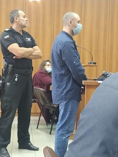 Здравко Дечкин в съдебната зала