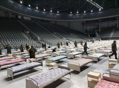 Полевата болница с 300 легла бе разставена под формата на учение на 25 март т.г. Снимка: Община Русе