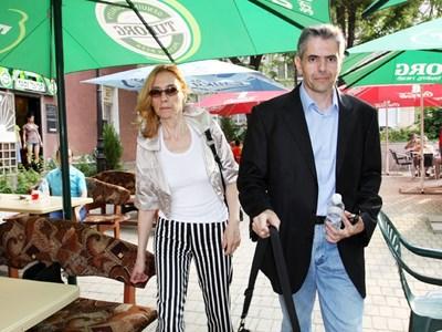 Габриела ди Саверио и Момчил Карамитев в Бургас през 2009 г.