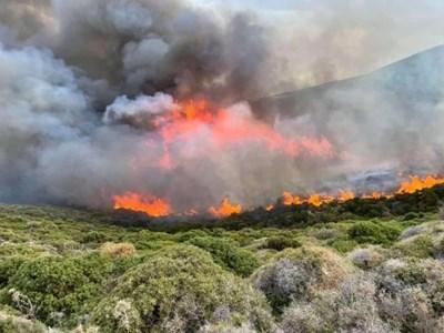 Хората от четири села са получили нареждане да напуснат района, тъй като пламъците се приближават към жилищните зони. СНИМКА: АРХИВ
