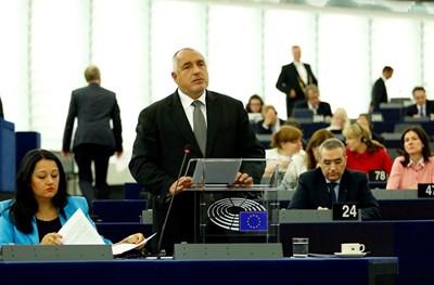 Премиерът Бойко Борисов отчете успехите на председателството пред евродепутатите в Страсбург. СНИМКА: Пресслужба На Министерския Съвет
