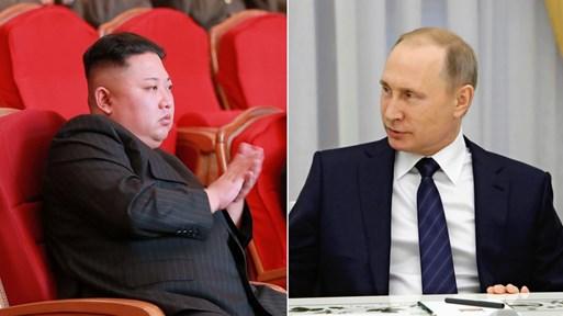 Руският президент Владимир Путин и севернокорейския лидер Ким Чен-ун се срещат на 25 април във Владивосток