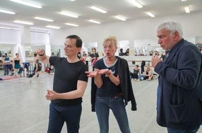 Стефан Димитров по време на репетиция на балета СНИМКА: АРХИВ НА СТАРОЗАГОРСКАТА ОПЕРА