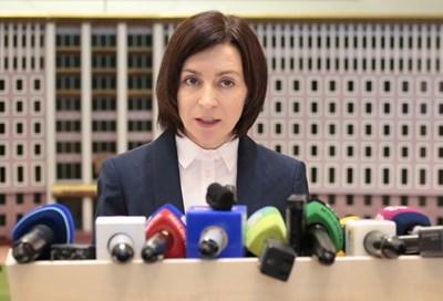 Мая Санду беше обявена за премиер на Молдова в неделя. СНИМКА: РОЙТЕРС