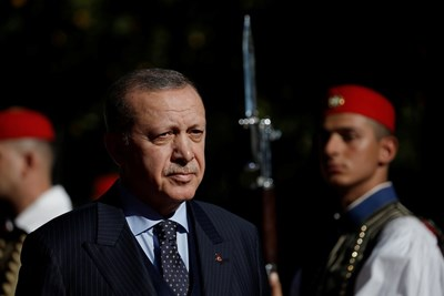 Турският президент Реджеп Ердоган пристигна на посещение в Атина  СНИМКА: Ройтерс